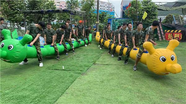 适合深圳部门员工团建50人培训的拓展活